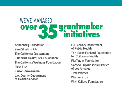 We've managed over 35 grant maker initiatives