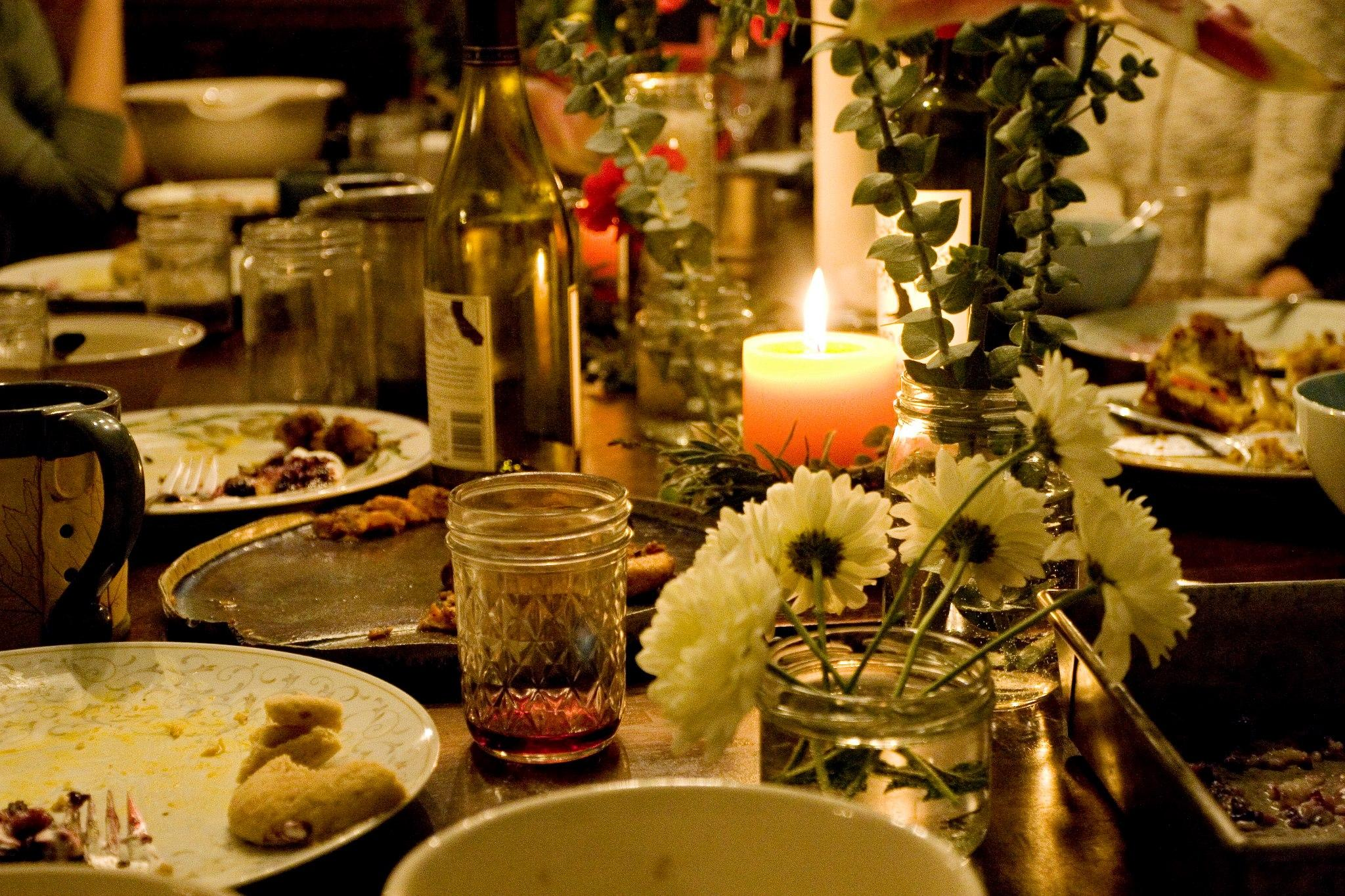 the dinner reception Need wedding ideas check out this dinner-party wedding reception and see more inspirational photos on theknotcom.